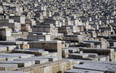 The Jewish cemetery on the Mount of Olives, in Jerusalem — Stockfoto
