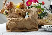 Wielkanocny Baranek ciasto — Zdjęcie stockowe