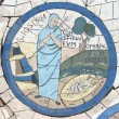 Saint Joseph, Mosaic in front of church on Mount of Beatitudes — Foto Stock #15480677