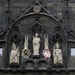 Stock Photo: St. Vitus, Charles IV, Wenceslas IV, Old Town Bridge Tower, Prague
