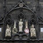 St. Vitus, Charles IV, Wenceslas IV, Old Town Bridge Tower, Prague — Stock Photo #15487329