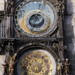 Stock Photo: Famous medieval astronomical clock in Prague, Czech Republic