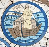 Noah, mosaico em frente à igreja do monte das bem-aventuranças — Foto Stock