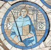 Saint paul, mosaico em frente à igreja do monte das bem-aventuranças — Foto Stock