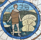 David, Mosaic in front of the church on the Mount of Beatitudes — Foto Stock