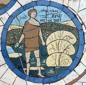 David, mosaico em frente à igreja do monte das bem-aventuranças — Foto Stock