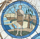 Saint John the Baptist, Mosaic in front of the church on the Mount of Beatitudes — Foto Stock