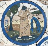 Saint jacob, mosaico em frente à igreja do monte das bem-aventuranças — Foto Stock