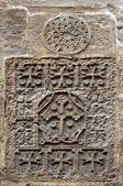Armenian cross, St James Cathedral, Jerusalem — Stock Photo