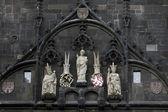 St. Vitus, Charles IV, Wenceslas IV, Old Town Bridge Tower, Prague — Stock Photo