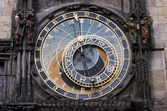 Famous medieval astronomical clock in Prague, Czech Republic — Stok fotoğraf