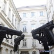Guns in prague — Stock Photo