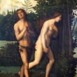 Stock Photo: Expulsion of Adam and Eve from paradise