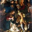 Nativity, Adoration of the shepherds - Stock Photo