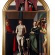 Madonna patroness, Saint Sebastian and the saints - Stock fotografie