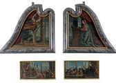 The polyptych of St. Lawrence — Stock Photo