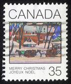 рождественская марка напечатана в канаде — Стоковое фото