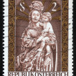 Royalty-Free Stock Photo: Christmas stamp printed in Austria shows Madonna and Child