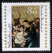 Christmas stamp printed in the Germany shows Christmas Creche — Stock Photo