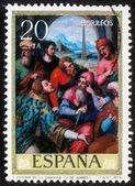 показывает, марку, напечатанную в испании святого стефана в синагоге — Стоковое фото