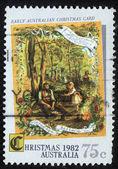 Noël timbre imprimé en Australie — Photo
