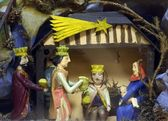 Nativity Scene, Christmas mangers — Stock Photo
