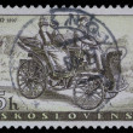 Stamp printed in Czechoslovakia, shows Prasident Car — Stock Photo