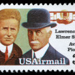 Stamp printed in USA shows Lawrence and Elmer Sperri — Foto de Stock