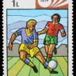 Stamp printed by Maldives, shows Fifa World Cup — Stock Photo