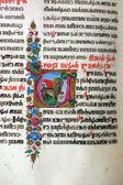 Ilustrace ve staré knize bibli — Stock fotografie