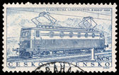 Stamp printed in Czechoslovakia showing the 'E499.0' Locomotive — Stock Photo