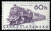 Stamp printed in Czechoslovakia showing the '423.0206' Locomotive — Stock Photo