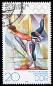 Stamp printed in DDR shows Johanna Starke — Stock Photo