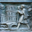 Detail of the door at the church of St Peter at Montmartre, Paris — Stock Photo