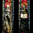 Stained glass, Church of St. Peter at Montmartre, Paris — Stock fotografie