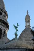 Basilique of Sacre Coeur, Montmartre, Paris, France — Stockfoto