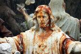 Ježíš na bleším trhu. paříž, francie. — Stock fotografie