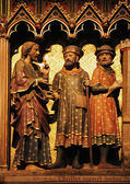 Jesus and two disciple on the road to Emmaus — Stock Photo