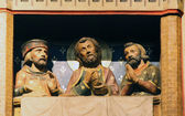 Supper at Emmaus, Notre Dame cathedral, Paris — Stock Photo