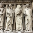 Stock Photo: Emperor Constantine, an angel, Saint Denis holding his head, and another angel.