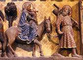 Flight to Egypt, Notre Dame cathedral, Paris — Stock Photo