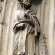 Paris, Notre-Dame cathedral, portal of the Virgin — Stock Photo