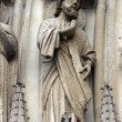 Stock Photo: Paris, Notre-Dame cathedral, portal of the Virgin