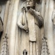 Paris, Notre-Dame cathedral, portal of Virgin — Stock Photo #18071111