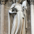 Allegories, The Church, Notre Dame Cathedral, Paris — Stock Photo