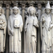 Saint John the Baptist, Saint Stephen, Saint Genevieve and Pope Saint Sylvester — Stock Photo