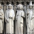 Stock Photo: Saint John the Baptist, Saint Stephen, Saint Genevieve and Pope Saint Sylvester