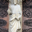 Christ Teaching, Notre Dame Cathedral, Paris — Stock Photo