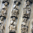 Stockfoto: Paris, Notre-Dame cathedral, portal of Virgin