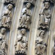 ストック写真: Paris, Notre-Dame cathedral, portal of Virgin